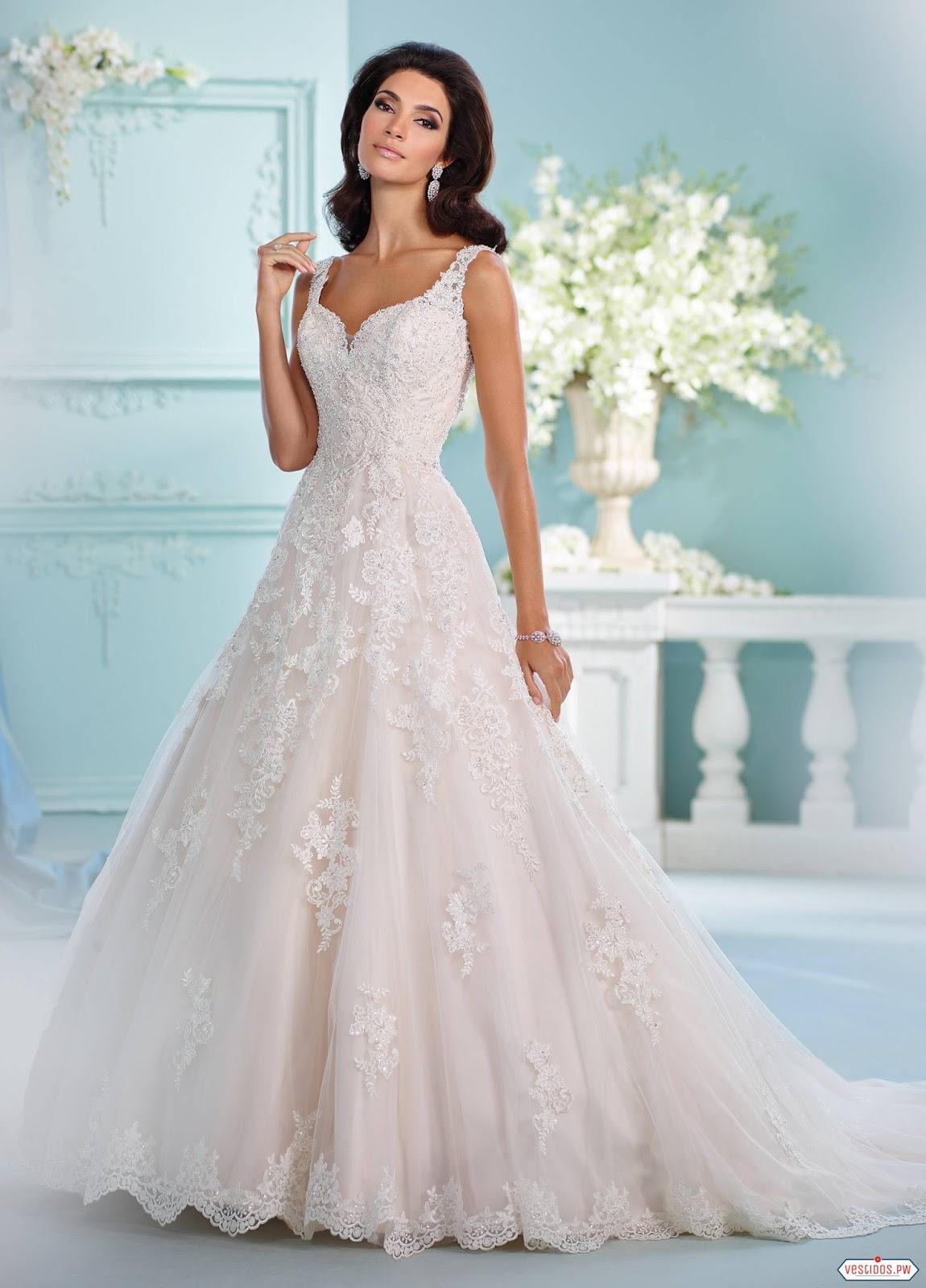 Nice Vestido De Novia Con Encaje Motif - All Wedding Dresses ...