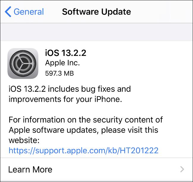 قم بتثبيت تحديثات iOS للحفاظ على أمان جهاز iPhone الخاص بك