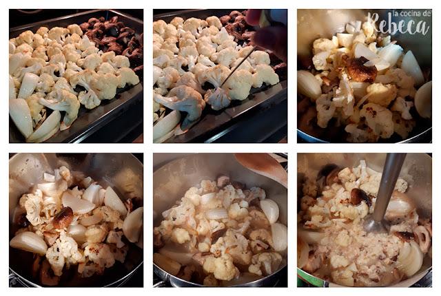 Receta de crema de coliflor y setas asadas: la crema