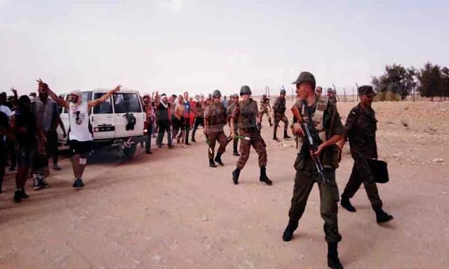 Les manifestants d'El Kamour ferment la vanne de pompage de pétrole