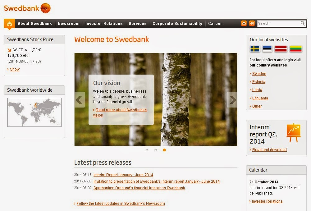 Swedbank Screen