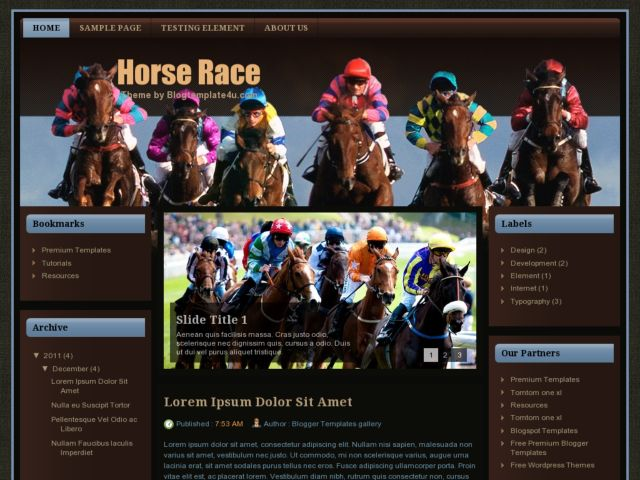 Horse Race Blogger Template