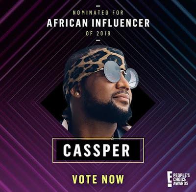 Cassper, Cassper Nyovest, South Africa artiste, people's choice awards