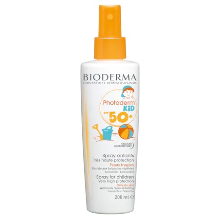 Слънцезащитен спрей Bioderma Photoderm Kid SPF 50+, За деца, 200 мл