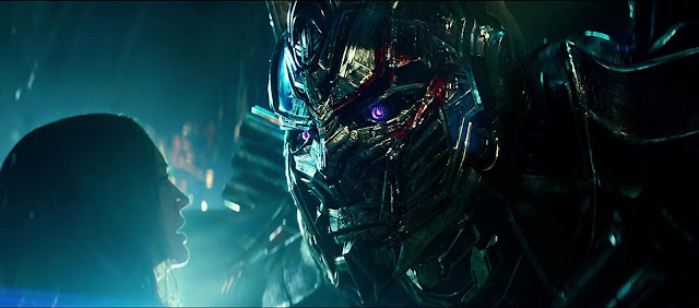 Transformers el último caballero Haddock  Optimus Prime