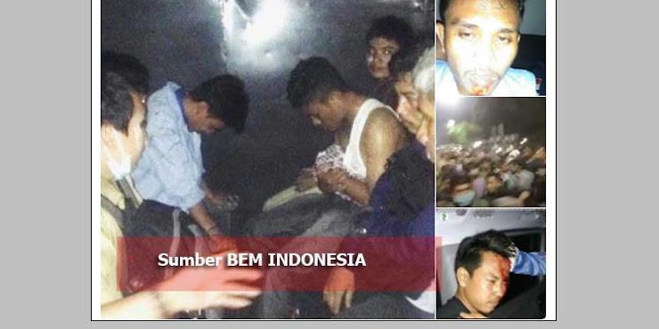 Aksi Sidang Rakyat 3 Tahun Jokowi Ricuh, Puluhan Mahasiswa Ditangkap dan Terluka