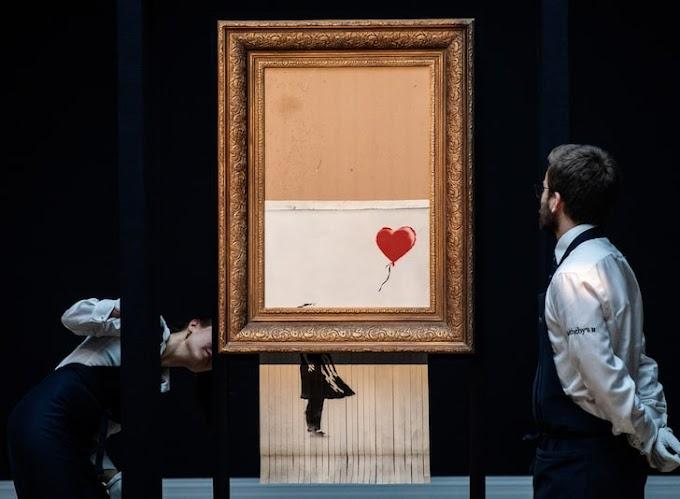 Bansky's shredded painting sells for $25m