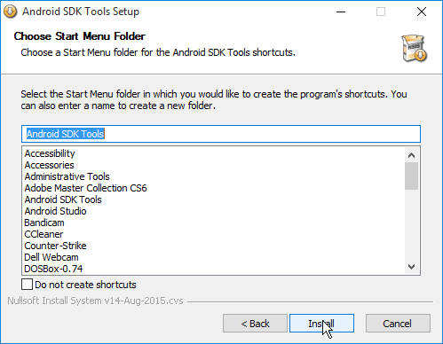 Install SDK to Work with Android Studio