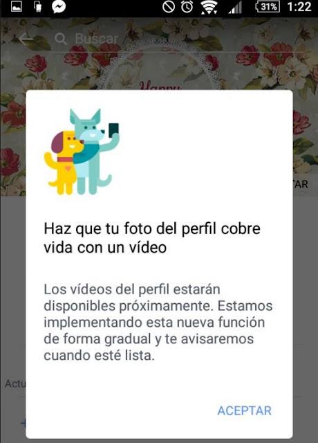 Vídeo en el perfil de Facebook