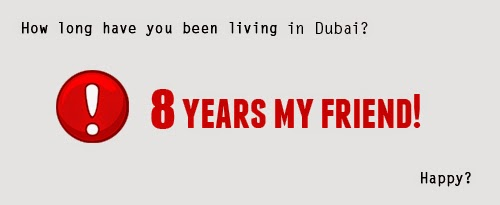 Eight's been a while in Dubai