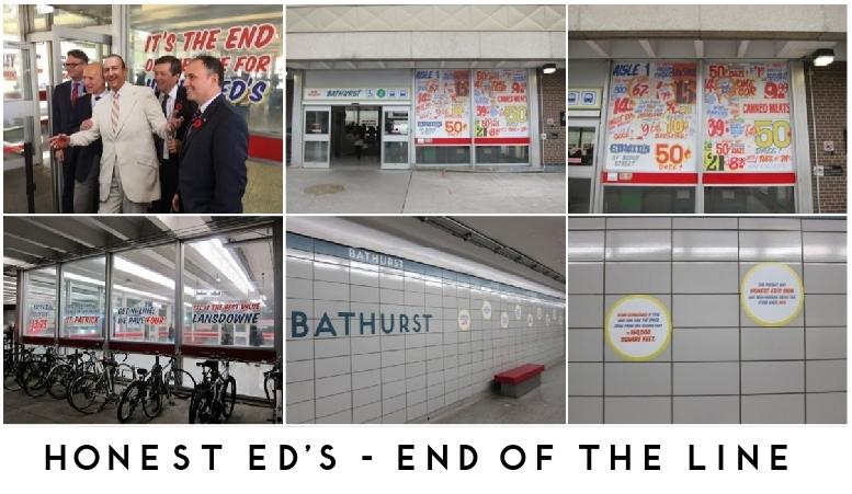 Bathurst station with Honest Ed signage