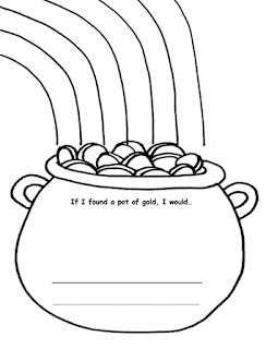 St. Patrick's day worksheet with writing prompts