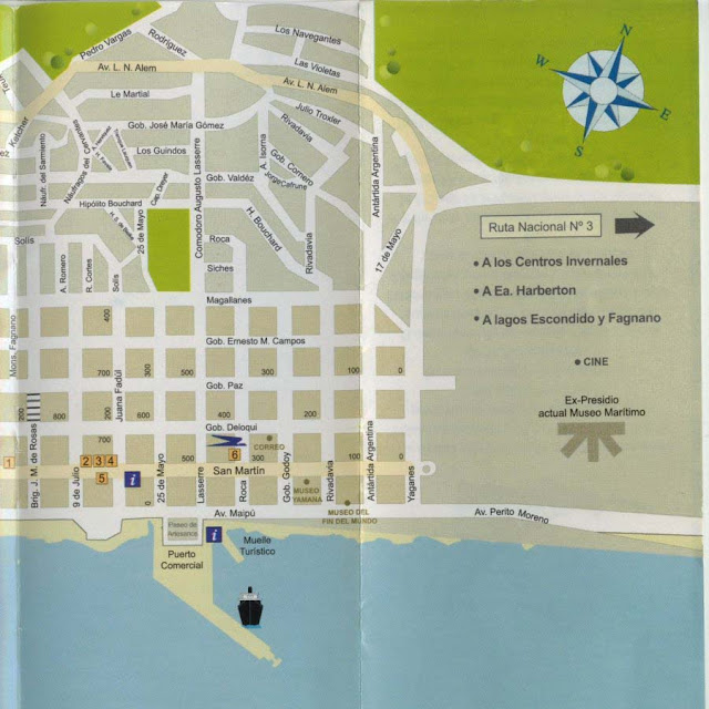 Ushuaia center map