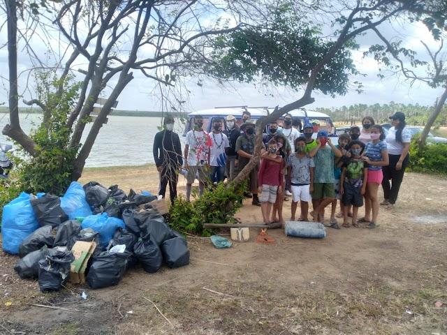 """Projeto """"Pequeno Cidadão Remando para o Futuro"""" realiza ação ambiental"""