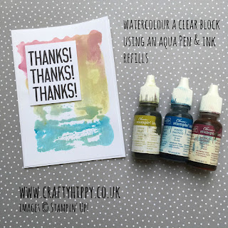 Learn how to create a gorgeous water coloured background using Aqua Painters and Clear Blocks from Stampin' Up!