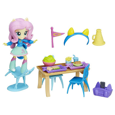 Fluttershy Equestria Girls Mini School Cafateria Set