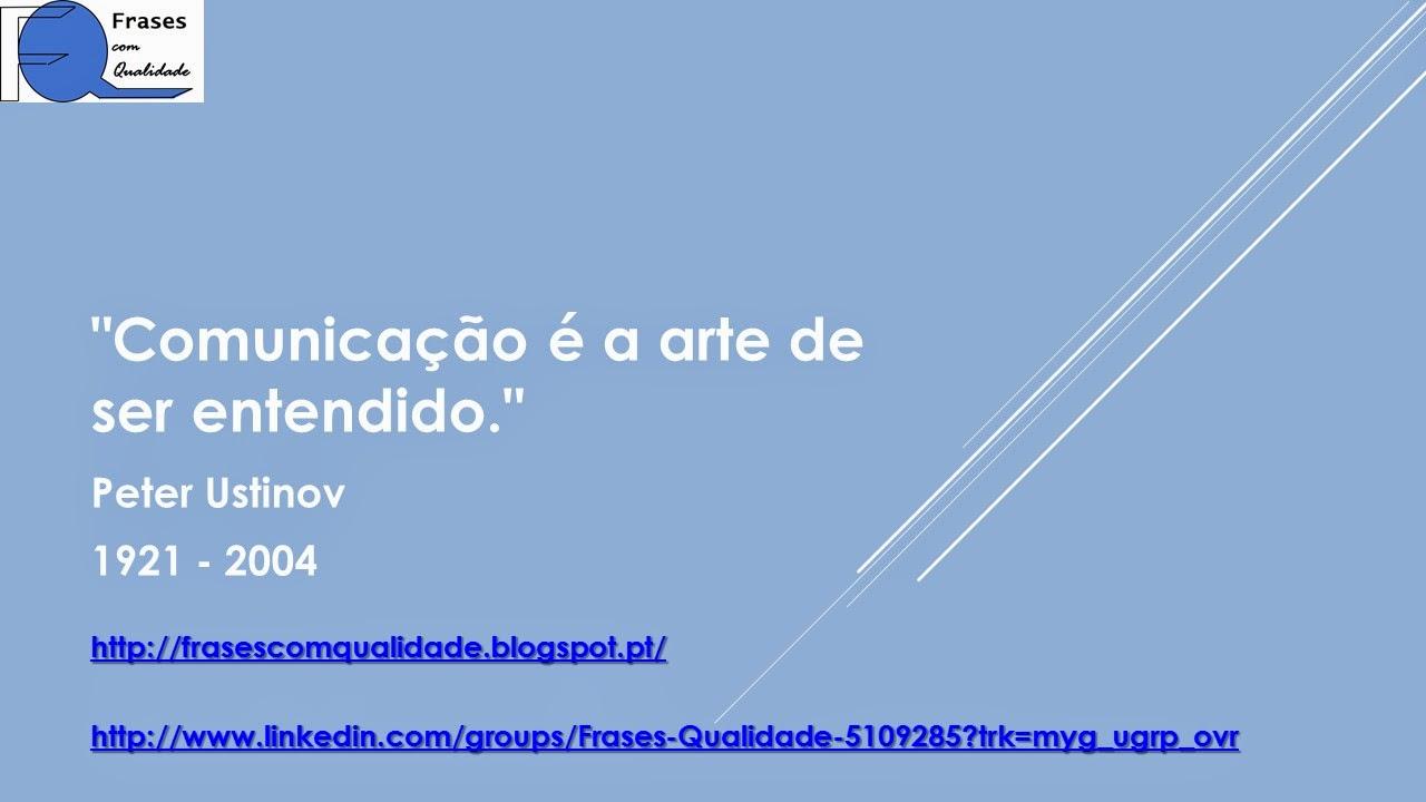 Frases Com Qualidade Frase De Peter Ustinov