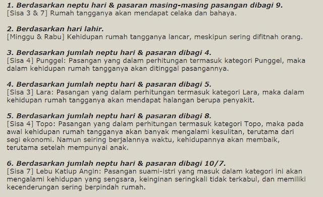 Hasil Ramalan Jodoh Online