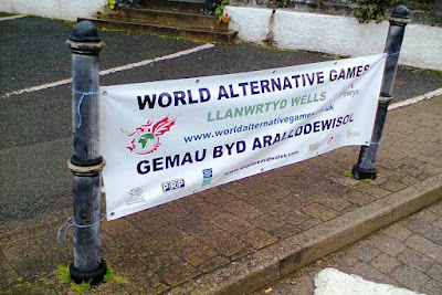 World Alternative Games are held in Llanwrtyd Wells, Wales