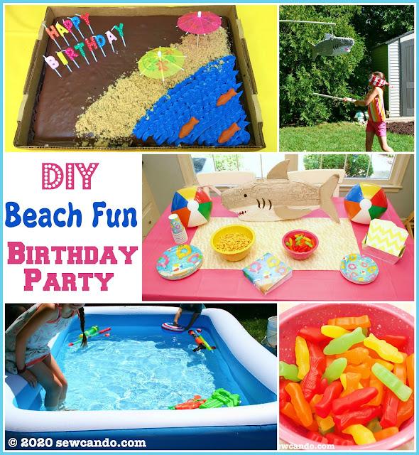 photo DIY Beach Party Birthday Party