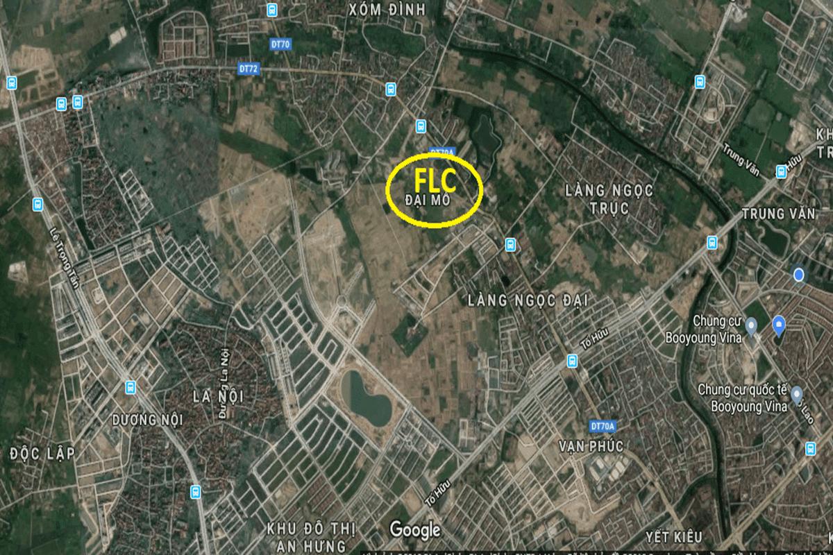 Vị trí dự án FLC Premier Park Đại Mỗ