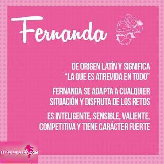Significado Del Nombre Fernanda