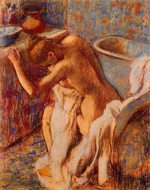 Эдгар Дега - Вытирание тела (1893-1898)