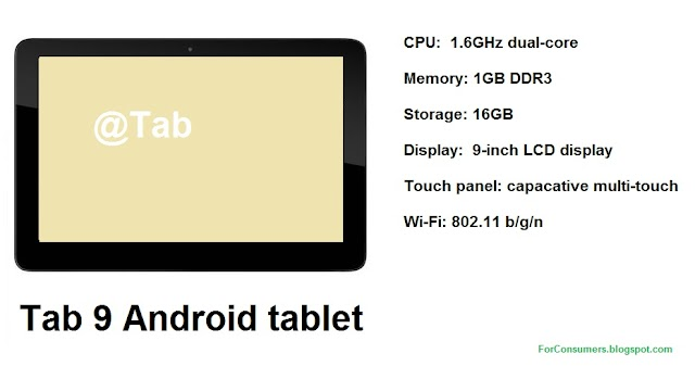 Tab 9 dual-core Android tablet