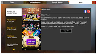 Cara Mendapatkan Tiket Gacha web event anniversary ff Pulsa 3 Milyar
