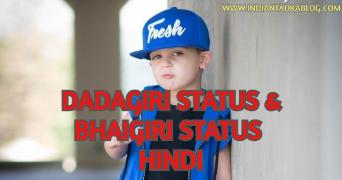 Bhaigiri Status & Dadagiri Status in Hindi