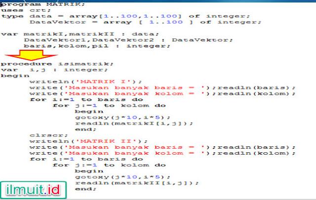 Contoh Procedure Dalam Pascal