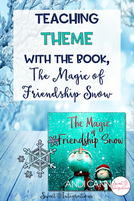 Are you looking for books to teach Themes? The Magic of Friendship Snow is the perfect book for teaching theme. In this post, you'll receive tips in teaching theme and receive a FREE resource to go with the book. Grades 2, 3, 4