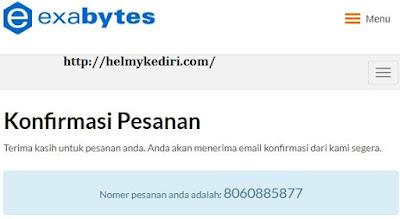 Nomor id pembelian domain