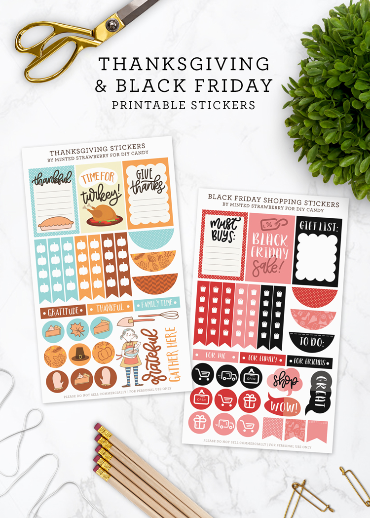 thanksgiving and black friday stickers