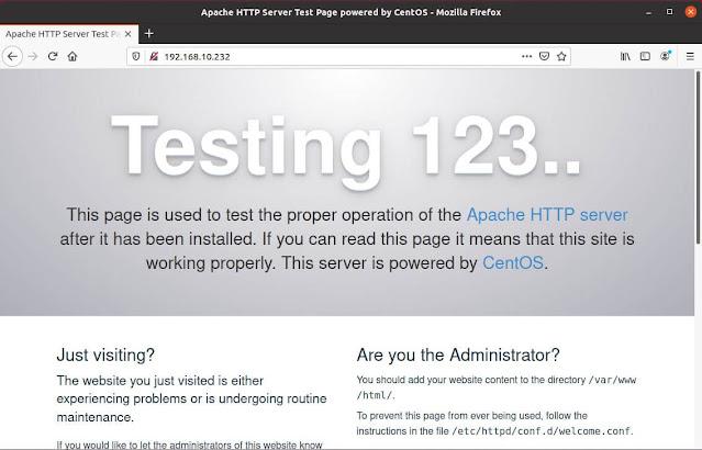 Cara Install Apache Web Server di Centos 7