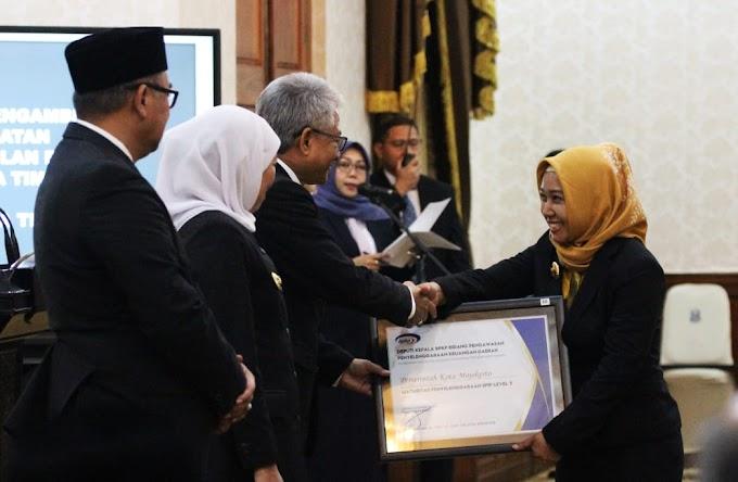 Pemkot Mojokerto Raih Penghargaan SPIP Level 3 Dari BPKP RI
