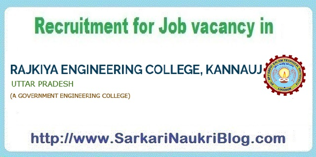 Naukri Vacancy Recruitment REC Kannauj