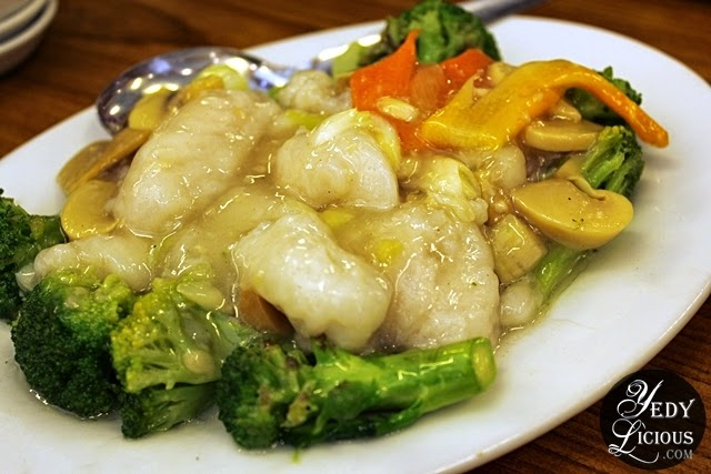 Fish and Broccoli at Hap Chan Tea House Restaurant Antipolo
