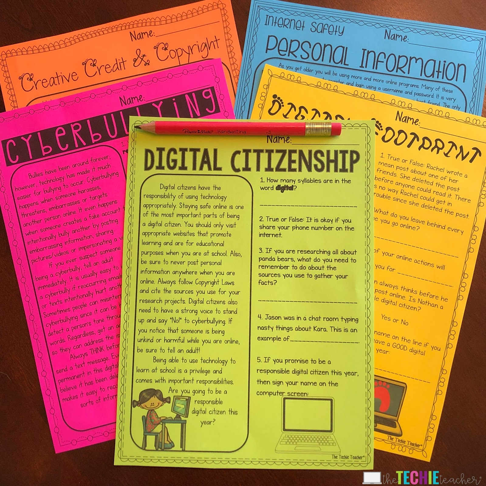 Digital Citizenship Resources For The Elementary Classroom