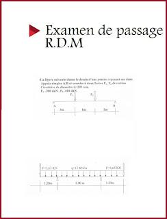 Examen de passage R.D.M pdf