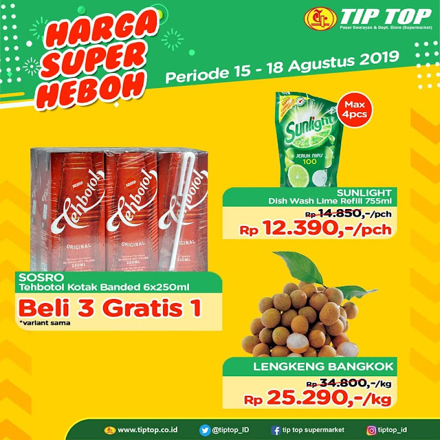 #TipTop - #Promo Katalog Harga Super Heboh Periode 15 - 18 Agustus 2019