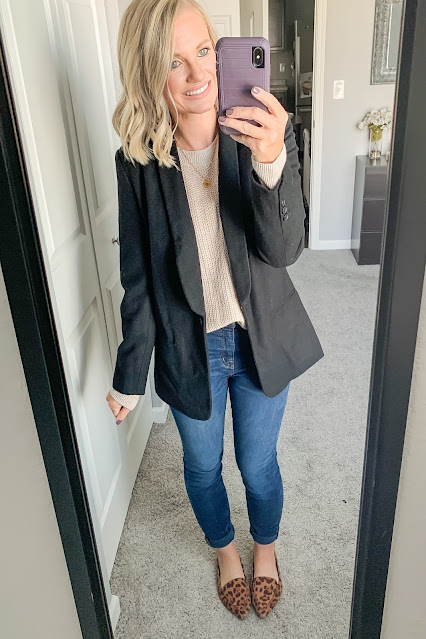 Thanksgiving outfit idea with blazer