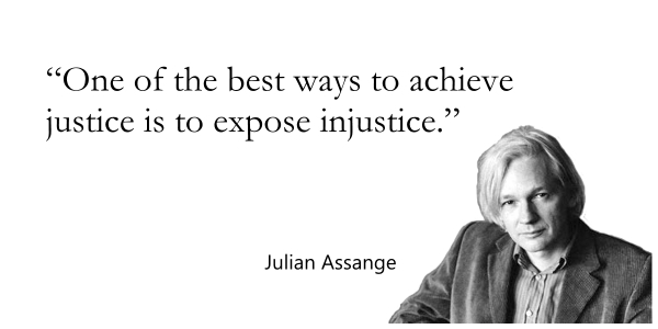 Journalist, Julian Assange, quote, justice