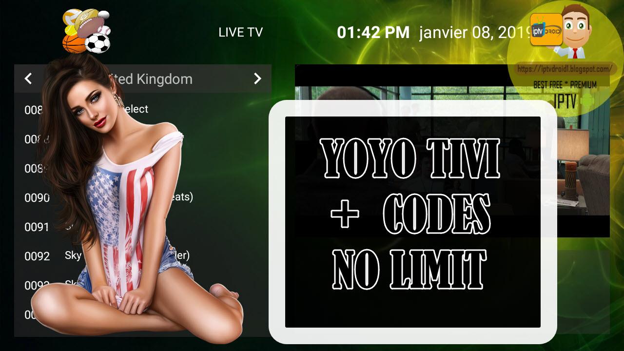 YOYO TIVI PREMIUM IPTV TO WATCH BEST PREMIUM CHANNELS + CODES NO