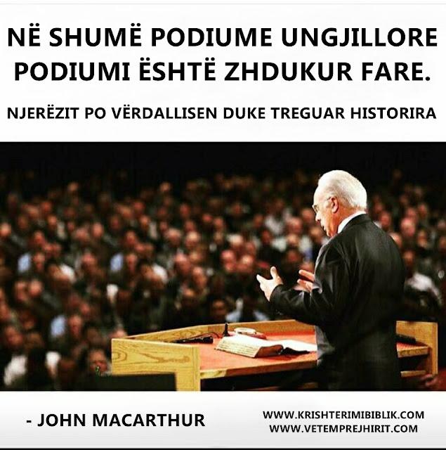 ungjillizimi, predikimi, macarthur shqip,