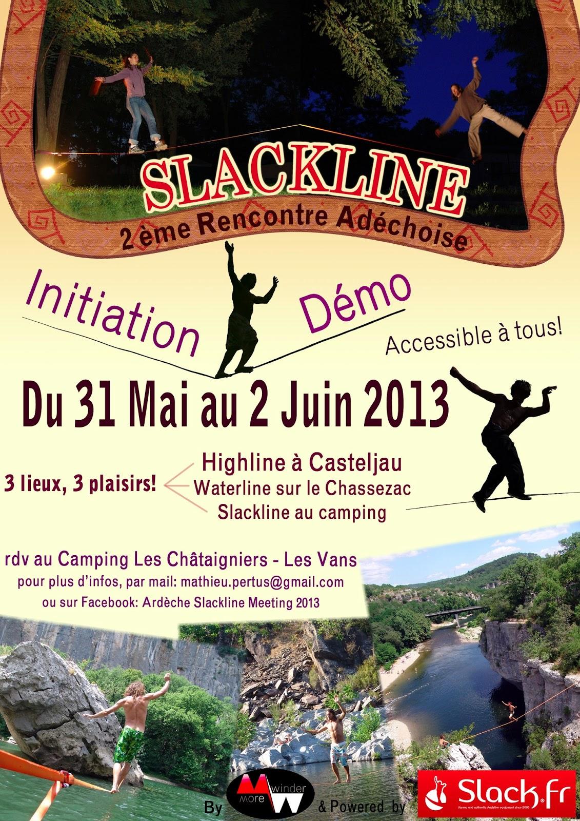 Rencontre slackline