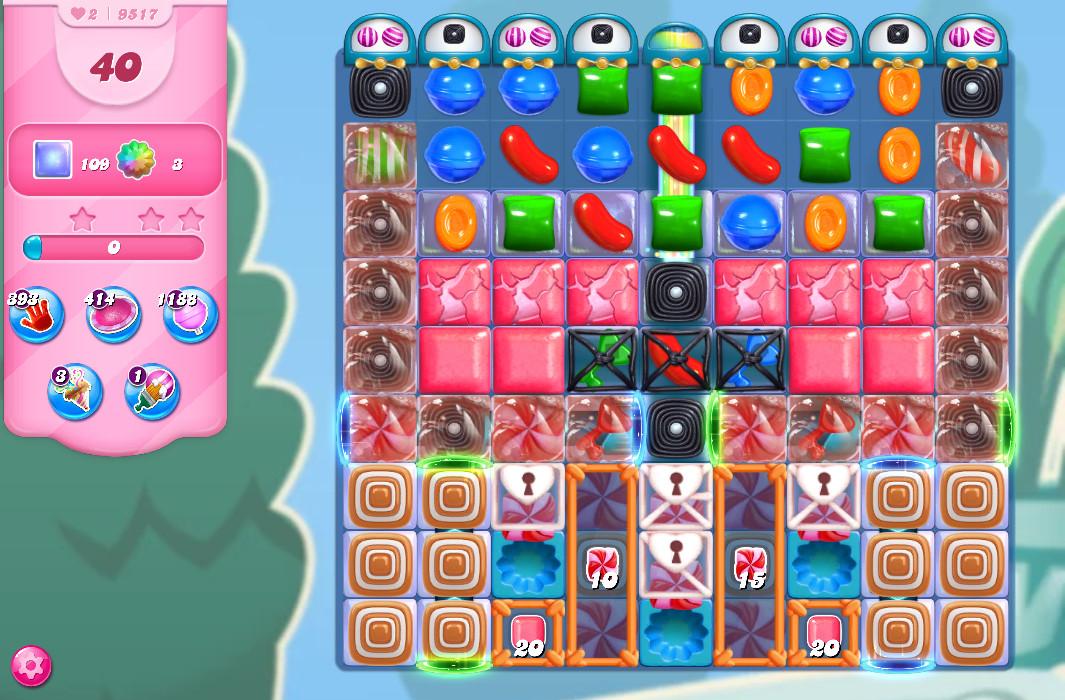 Candy Crush Saga level 9517