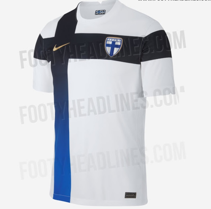 Finland Home Kit For Euro 2020