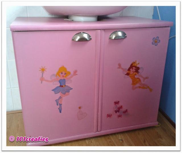 Wastafelkastje pimpen voor meisje