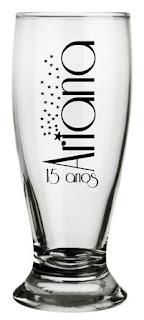 copos de vidro personalizados para lembrancinhas de aniversario